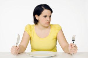 При голодных диетах
