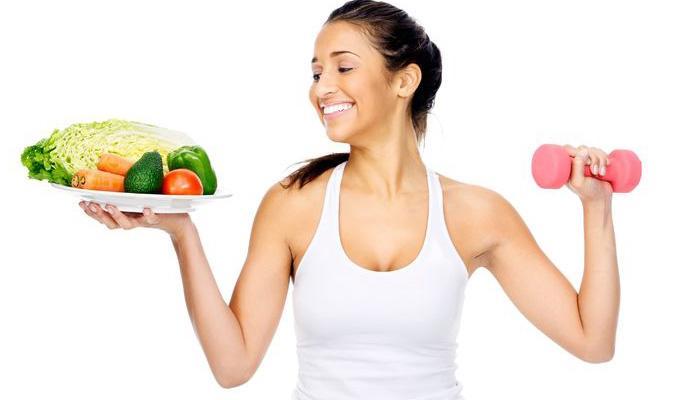Правильное питание и занятие спортом