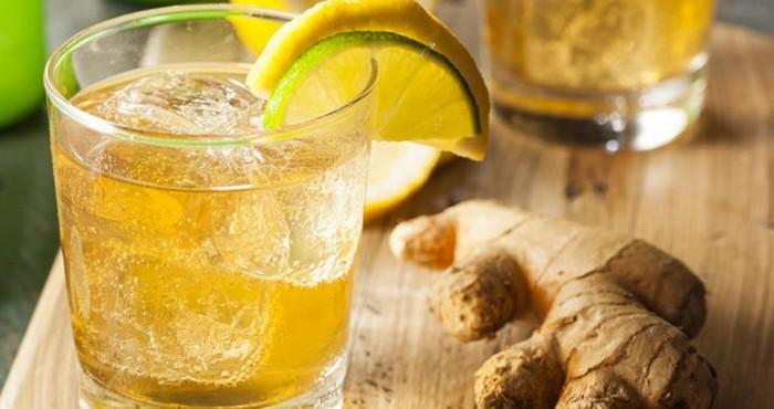 Как сделать напиток с имбирем и лимоном  529