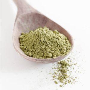 Смолотый в муку высушенный зеленый горошек