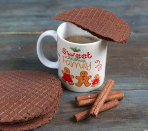 Какао с вафелькой