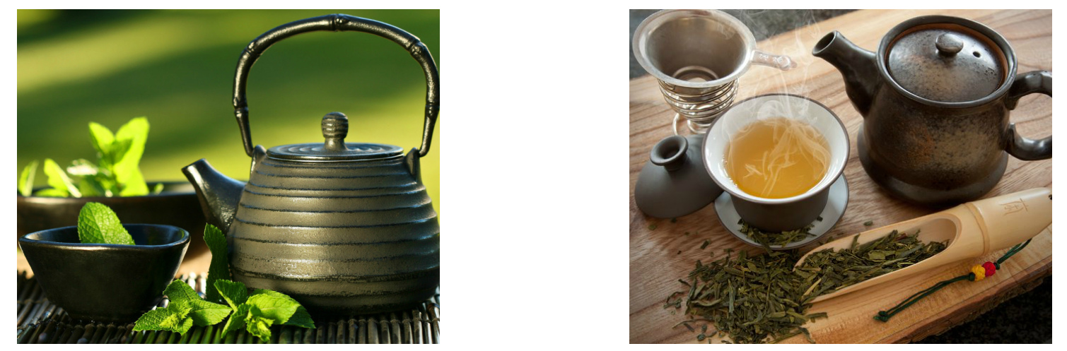 Зеленый чай свежеприготовленный