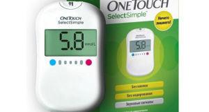 Практичный и доступный глюкометр One touch select simple
