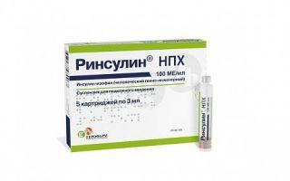 Ринсулин нпх — правила применения