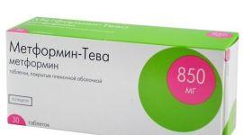 Современное противодиабетическое лекарство Метформин Тева