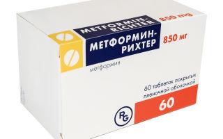 Метформин Рихтер противодиабетическое лекарство для управления СД 2-го типа