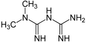 Химическая формула метформина