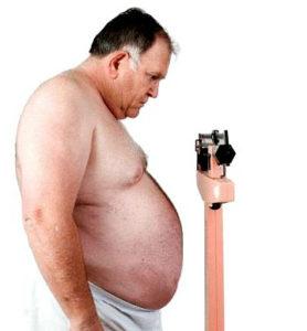 При ожирении у диабетиков
