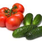 Огурцы и томаты