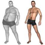 При 1 типе вес резко сбрасывается, при 2 типе мужчина толстеет
