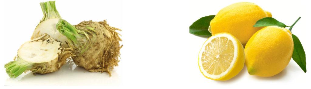 Рецепт с корнем сельдерея и лимонами