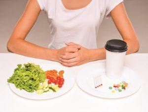 Прием таблеток вместе с едой